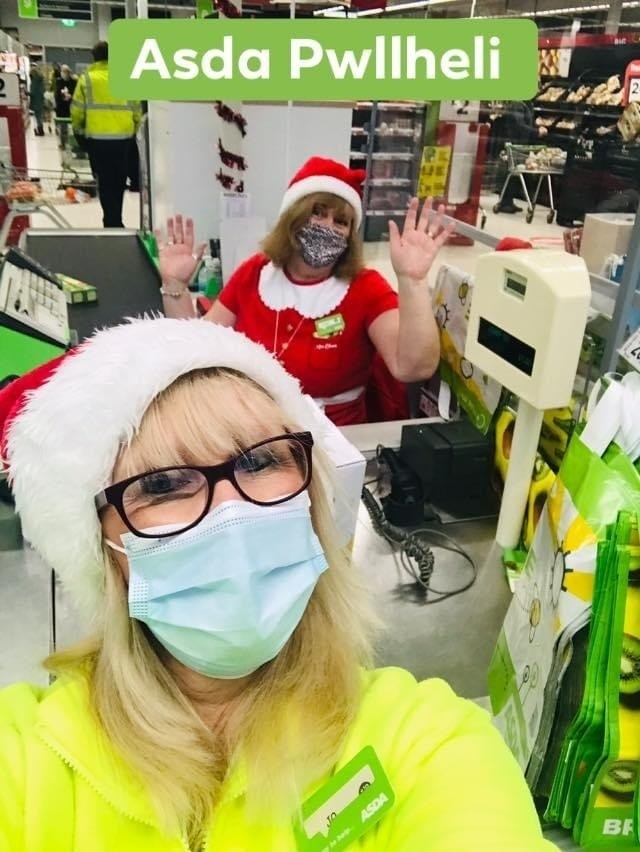 Christmas fun with colleagues | Asda Pwllheli