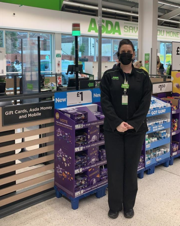 Service section leader Sarah Twine at Asda Portsmouth