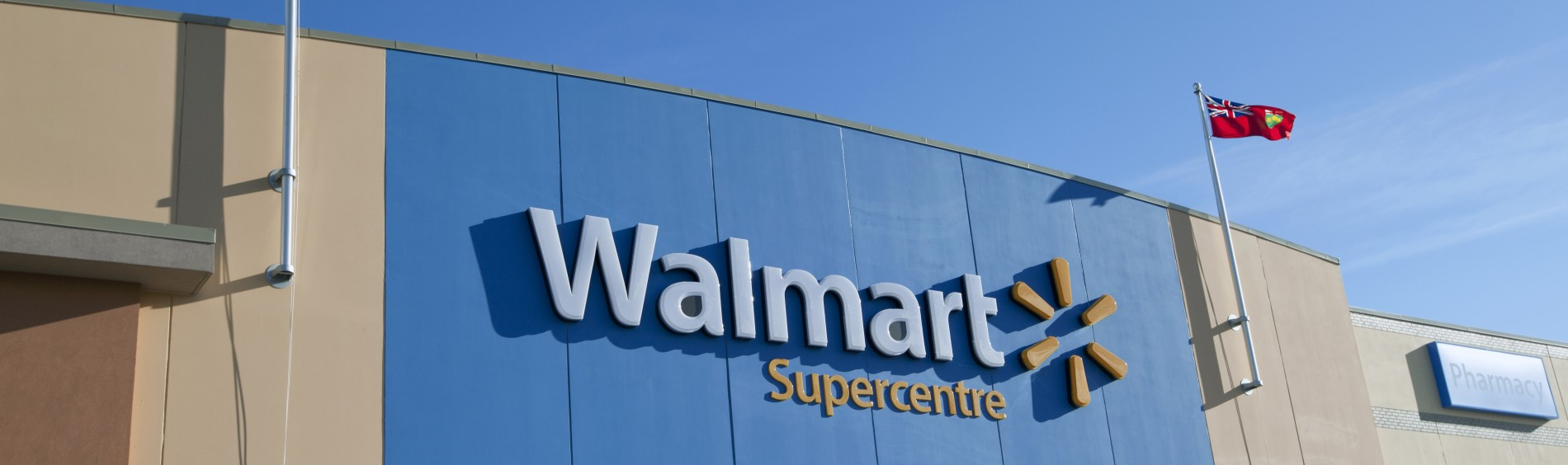 The outside of a Walmart Supercenter in Canada