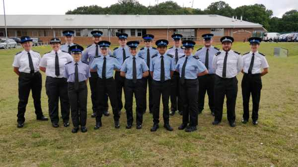 Watford twilight colleague Sue helps train young police recruits