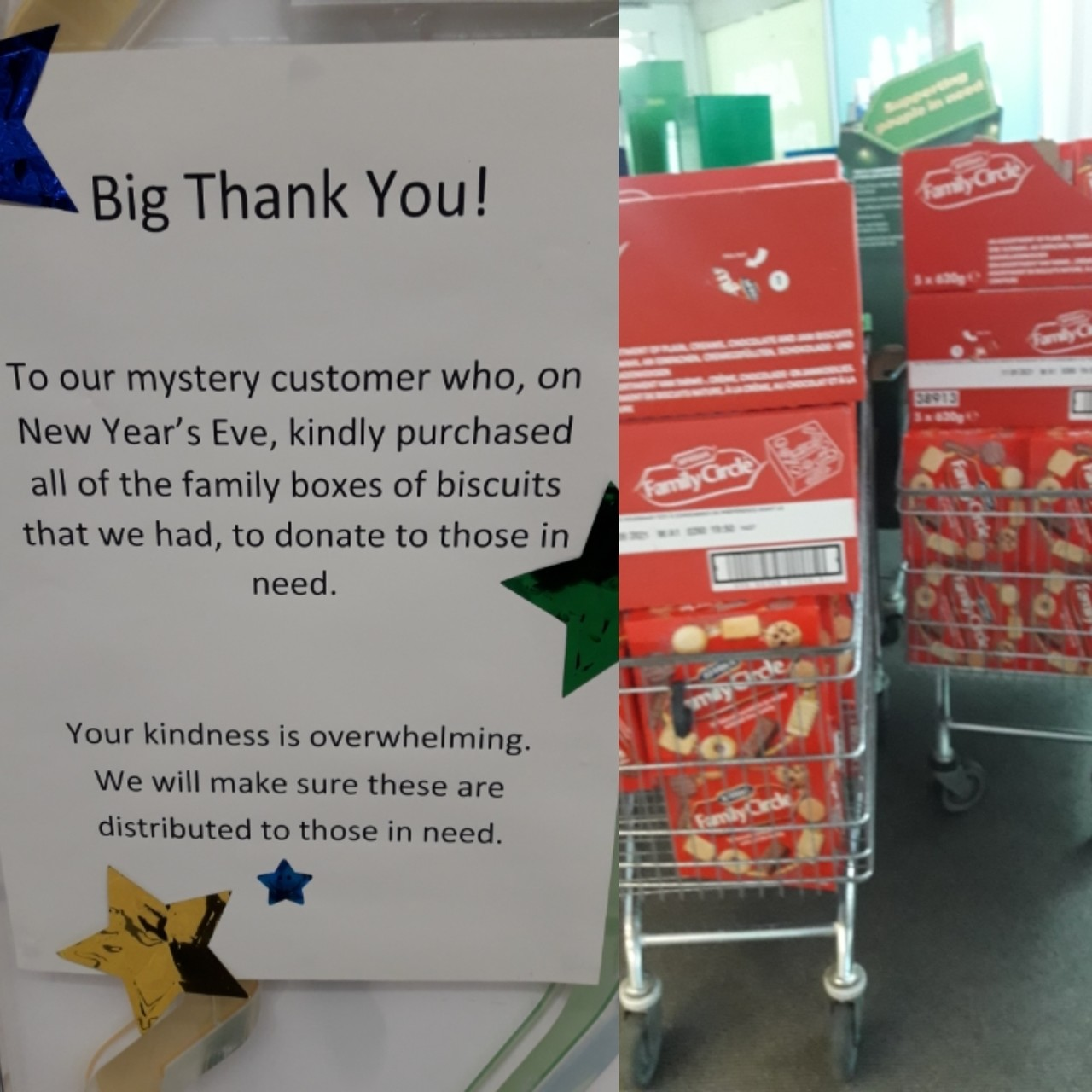 Thanks to generous customer | Asda Middleton Park