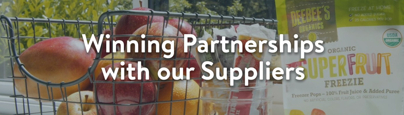 Winning Partnerships with our Suppliers
