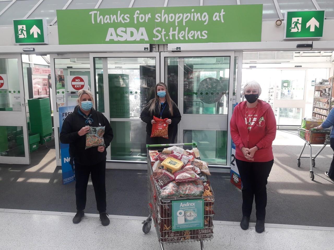 Asda St Helen's donates... | Asda St Helens