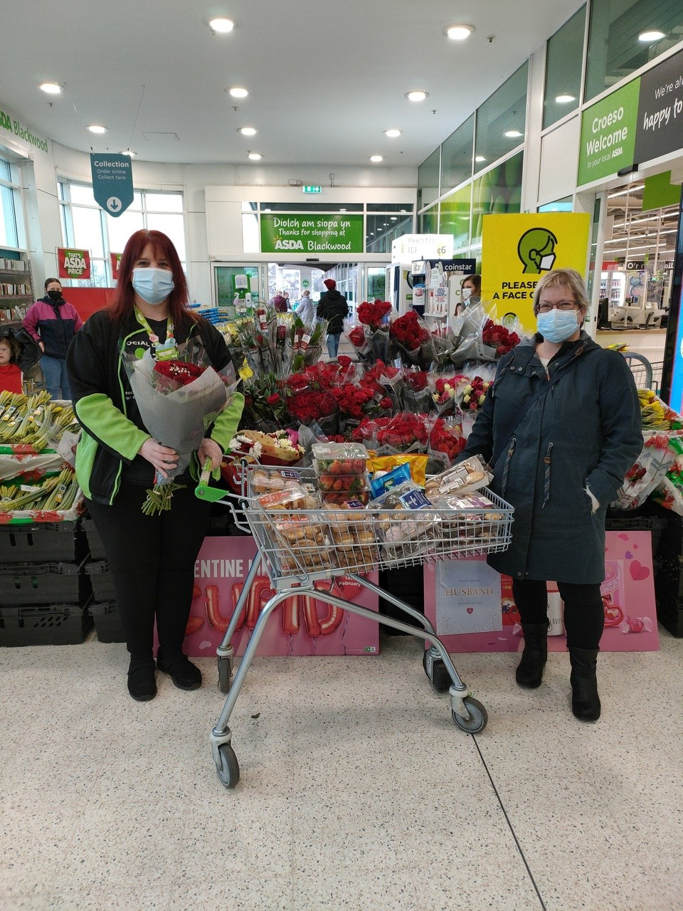 Valentine's donation to care home | Asda Blackwood