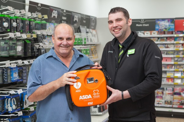 Shopper Steve thanks Asda colleagues for saving his life