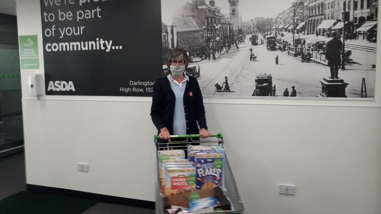 Donation for Salvation Army Foodbank | Asda Darlington