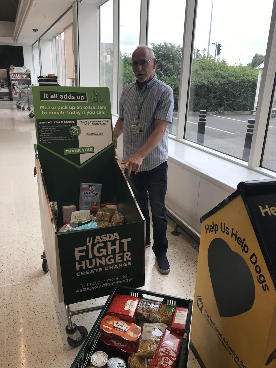 Food bank donation | Asda Cardiff Bay