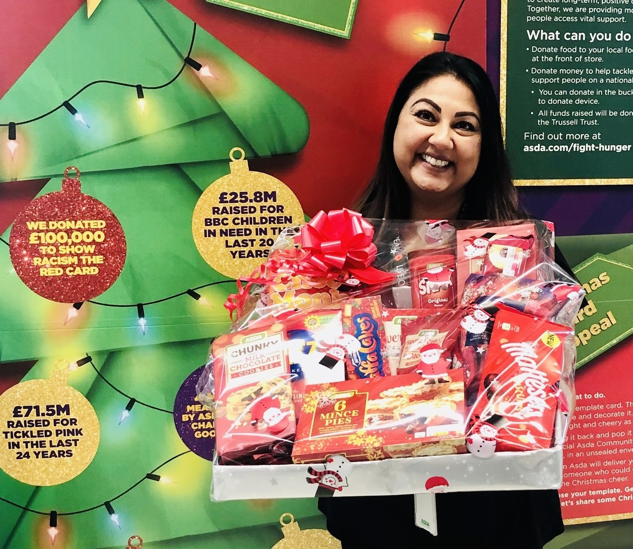 Christmas raffle donation for Nether Hall | Asda Leicester Abbey Lane