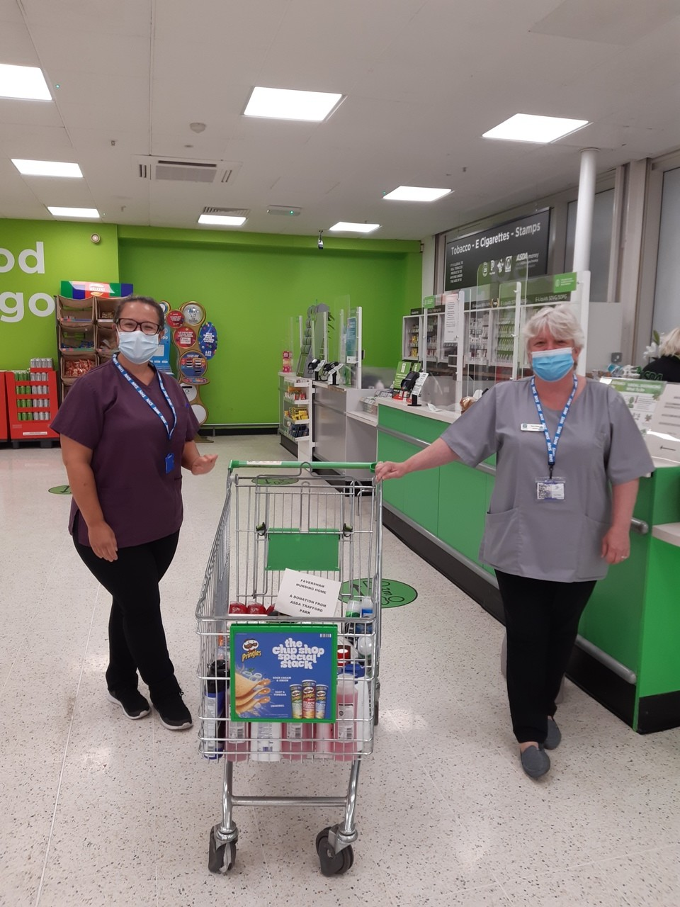 Donation of toiletries to Faversham Nursing Home | Asda Trafford Park