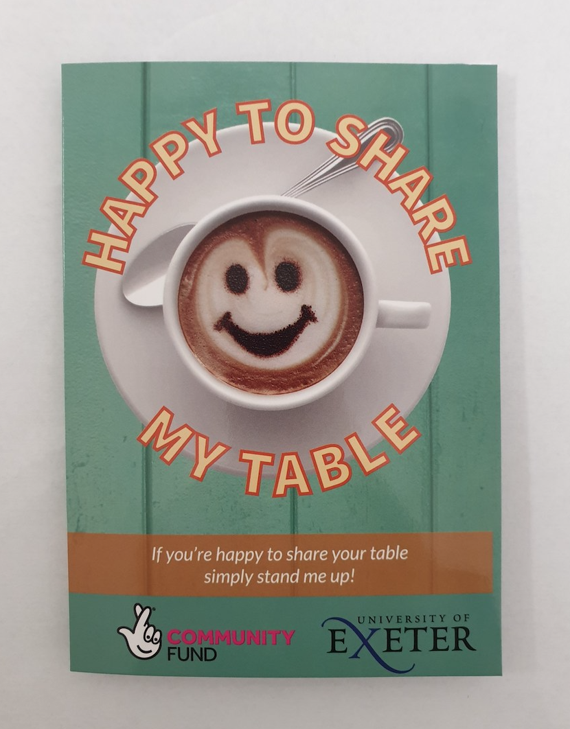 Asda Newton Abbot is getting behind the Happy to Share My Table scheme