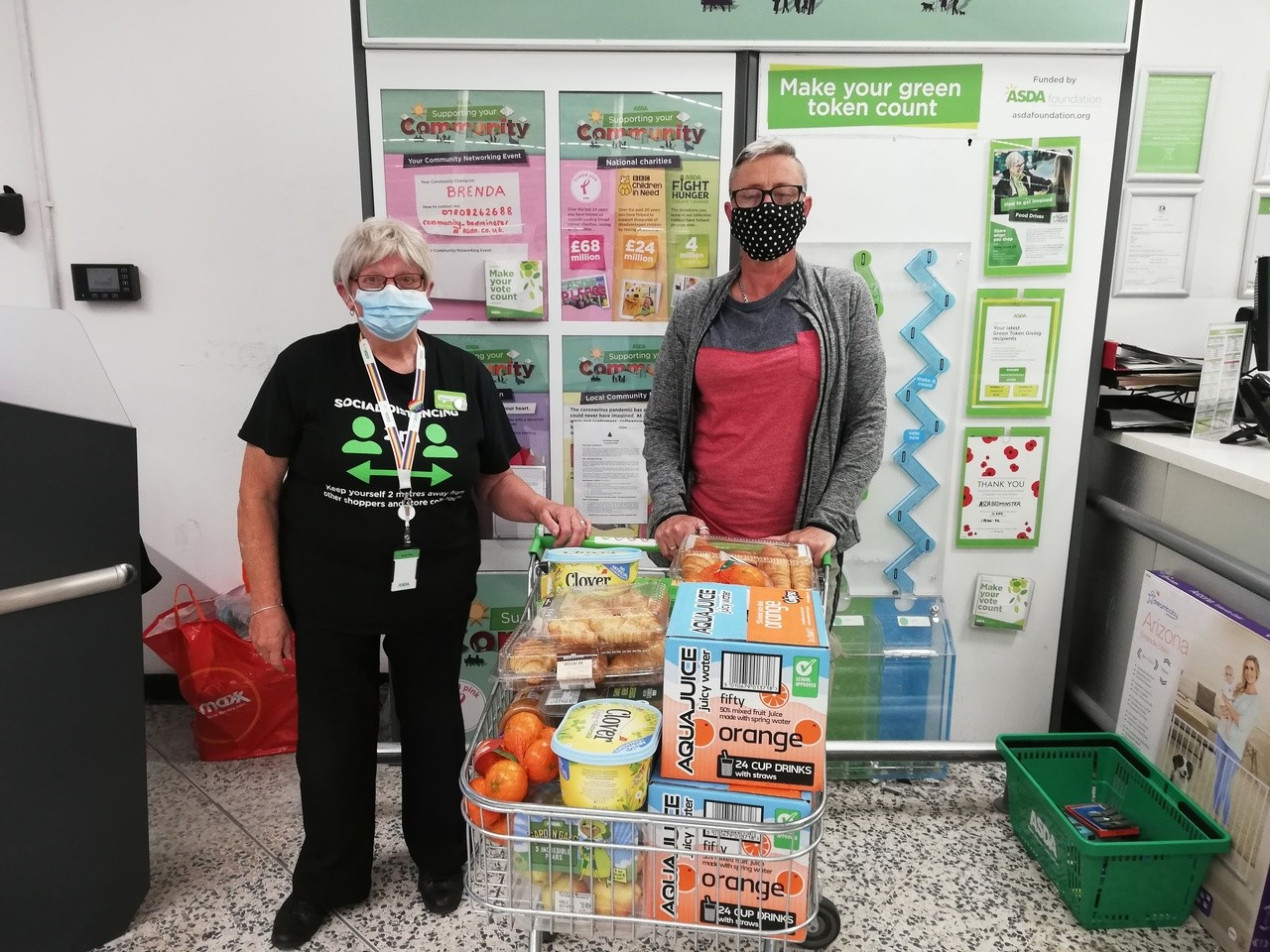 Donation of drinks and food for Cheddar Grove Primary School | Asda Bedminster