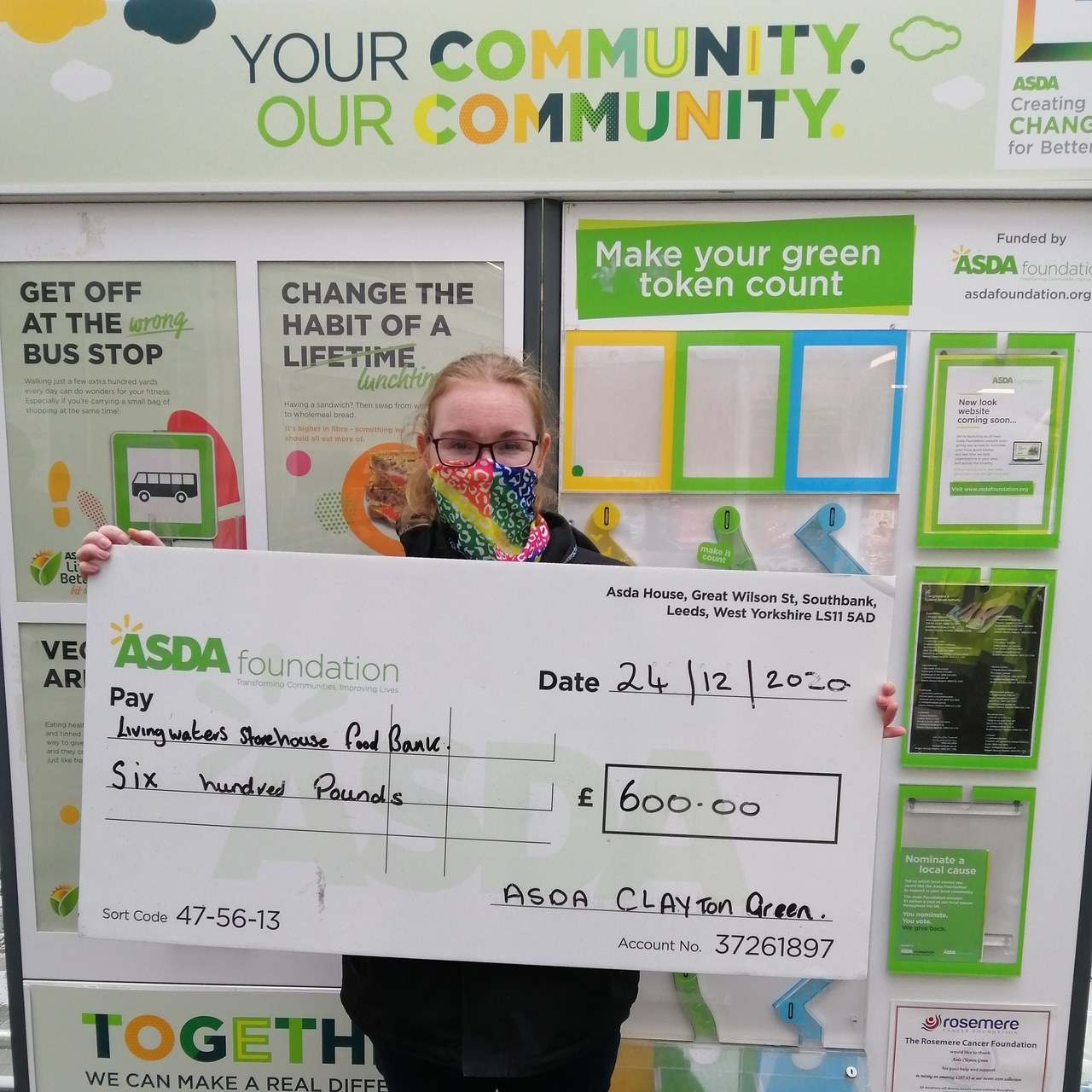 Foundation grant helps local food bank | Asda Clayton Green