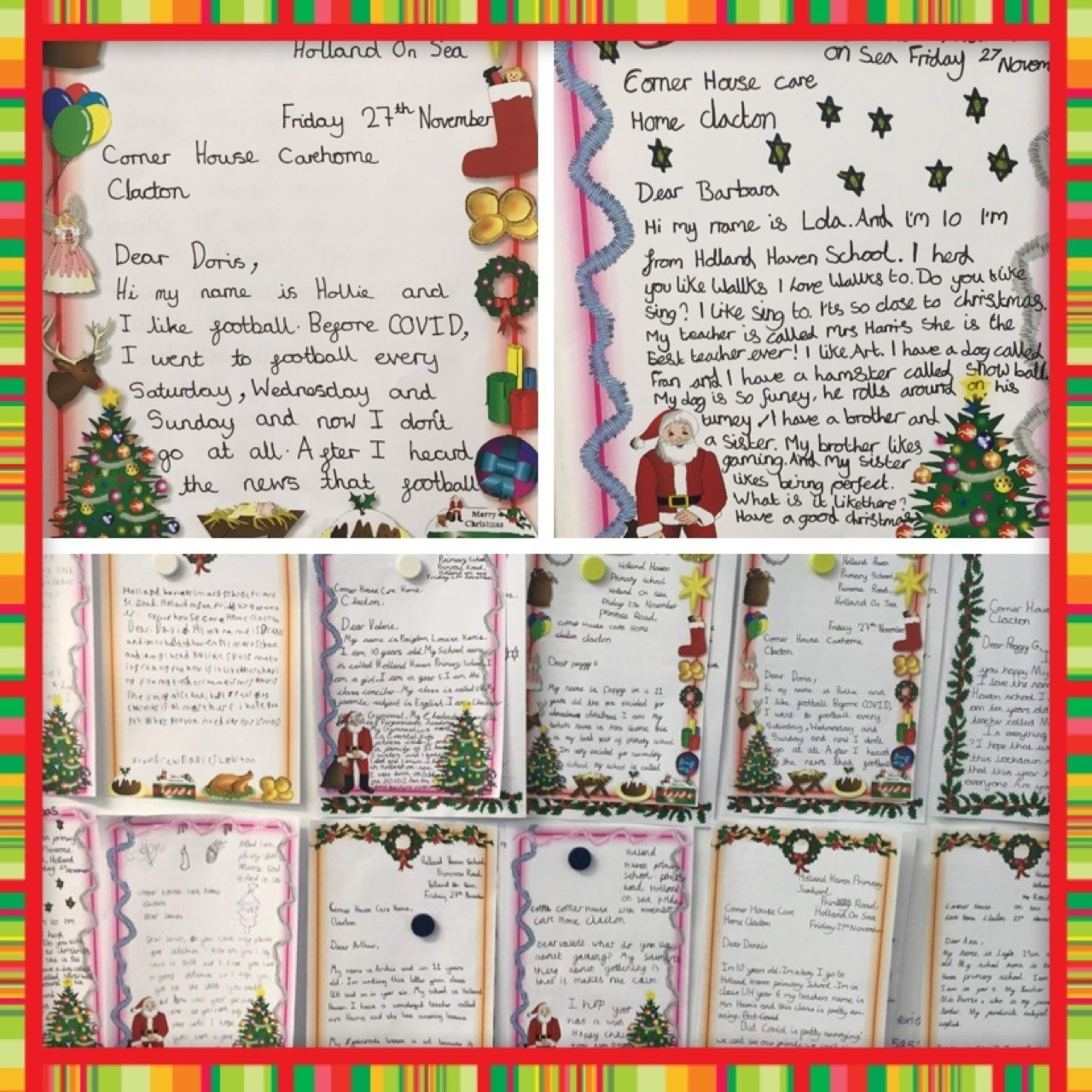 Christmas letters forCorner House care home | Asda Clacton-on-Sea