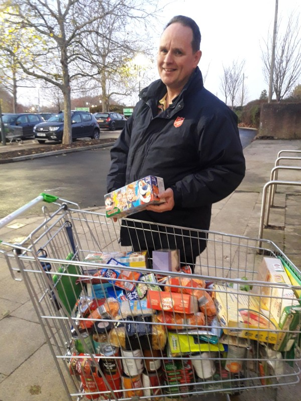 Asda Kingshill donation to East Peckham Salvation Army