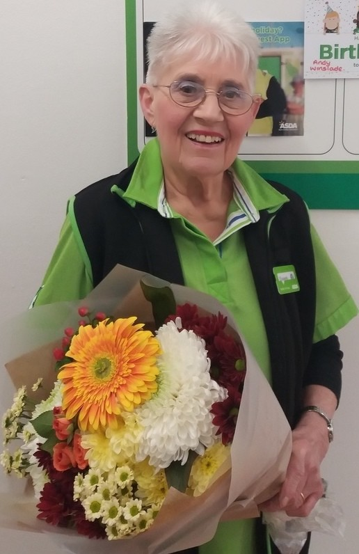 Asda Caerphilly long-serving colleague Betty