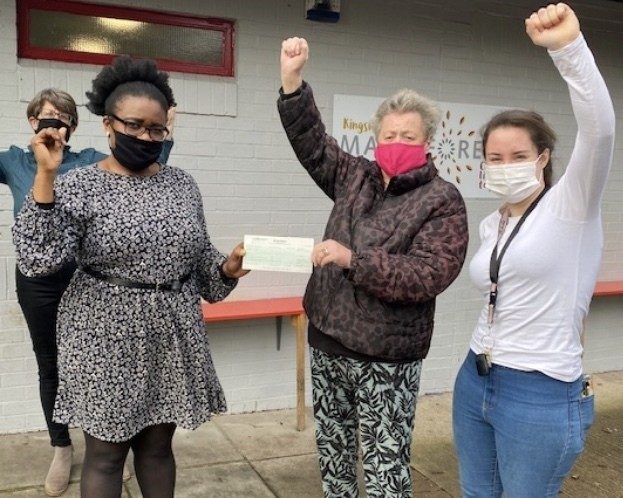 Asda Foundation cheque for Kingswood Made4ever Community Centre | Asda Longwell Green