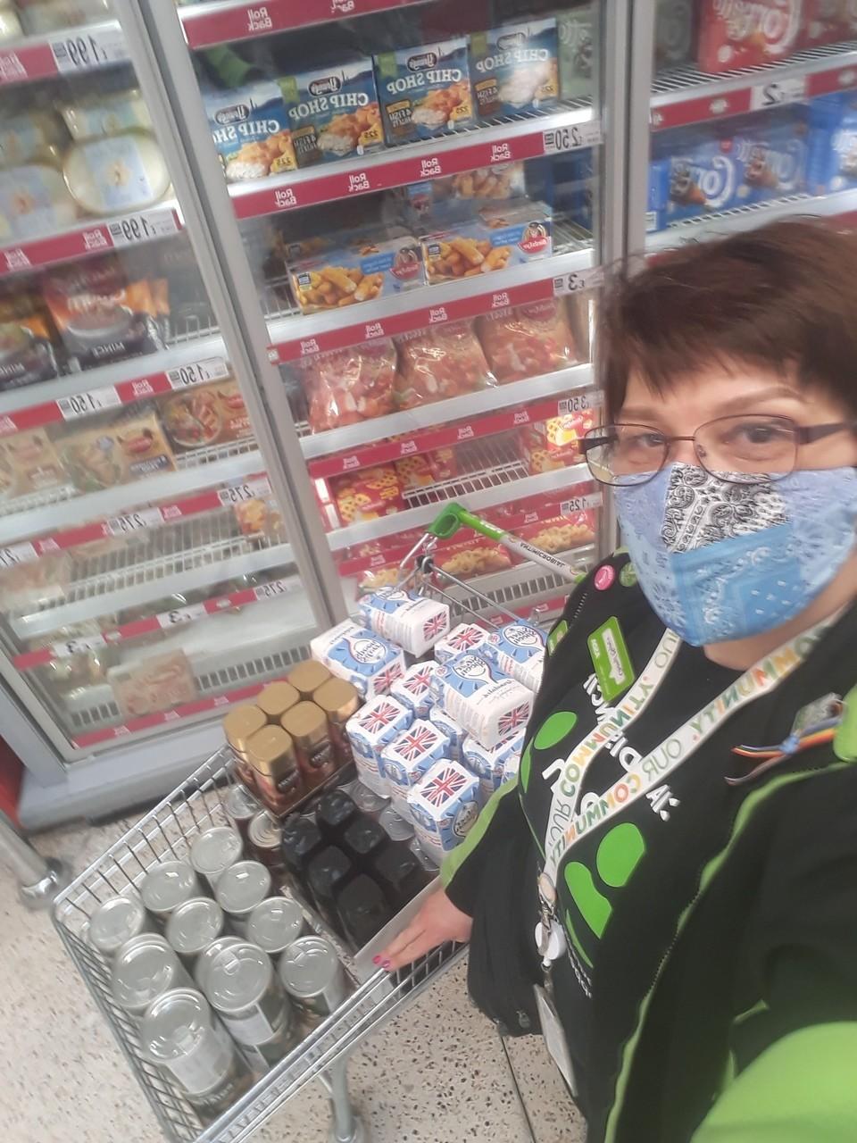 Donation to Ashton Churches Together Food Bank   Asda Golborne