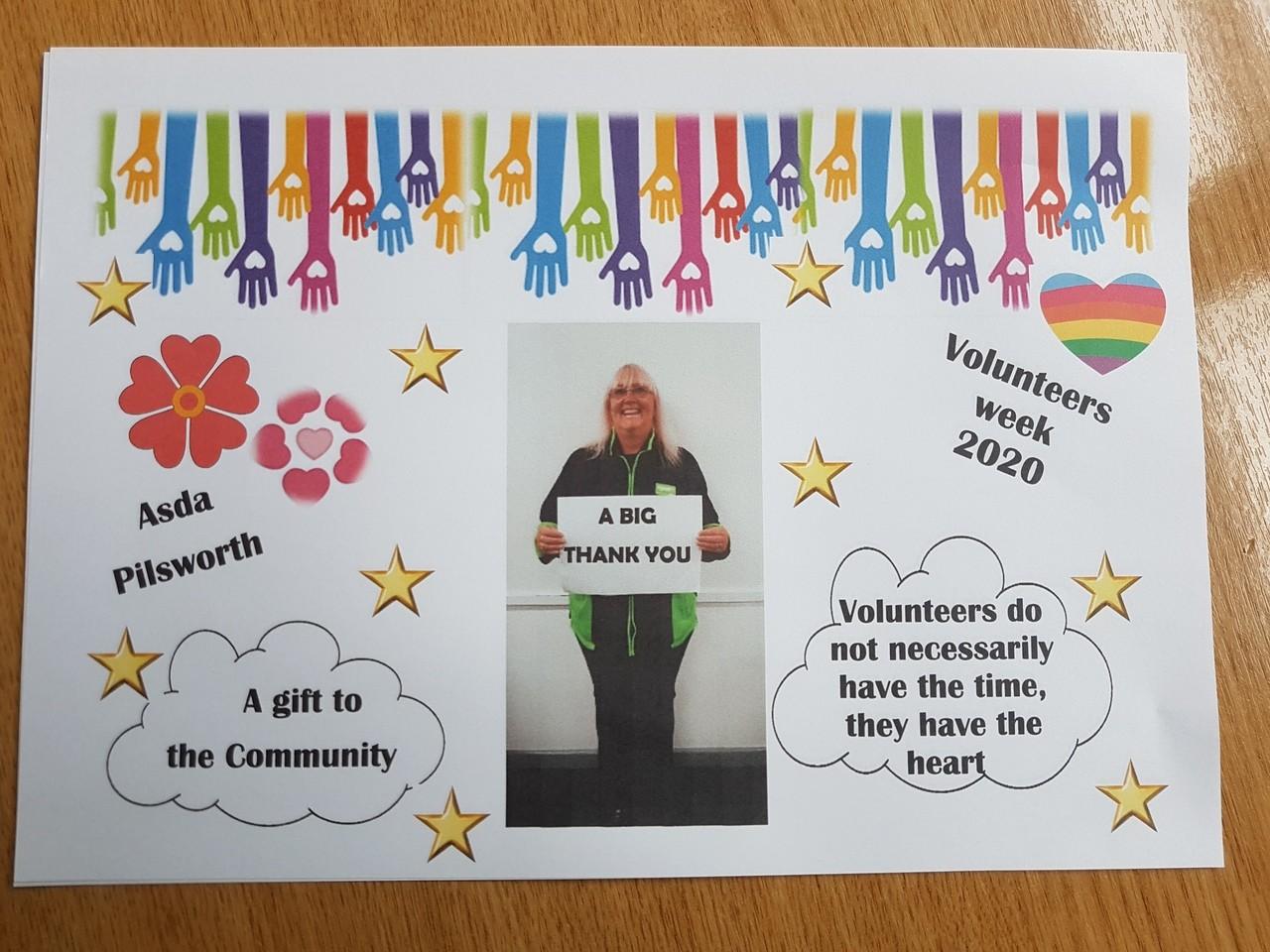 Volunteers' Week thanks | Asda Pilsworth