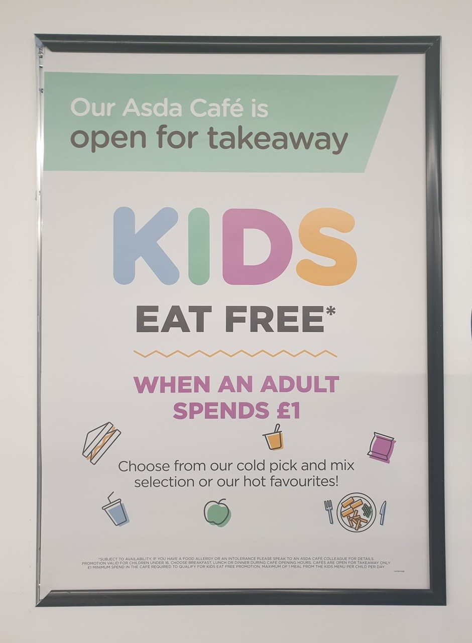 Kids eat free  | Asda Killingbeck