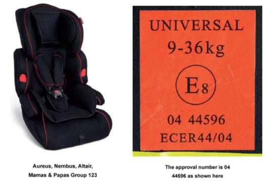 Mamas & Papas Aureus G123 car seat