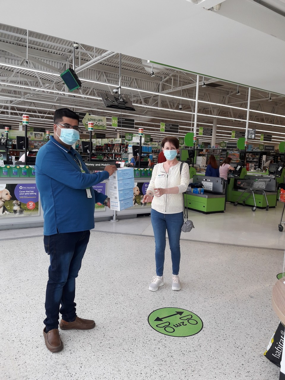 Mask donation to Red Courts Care Home | Asda Pudsey