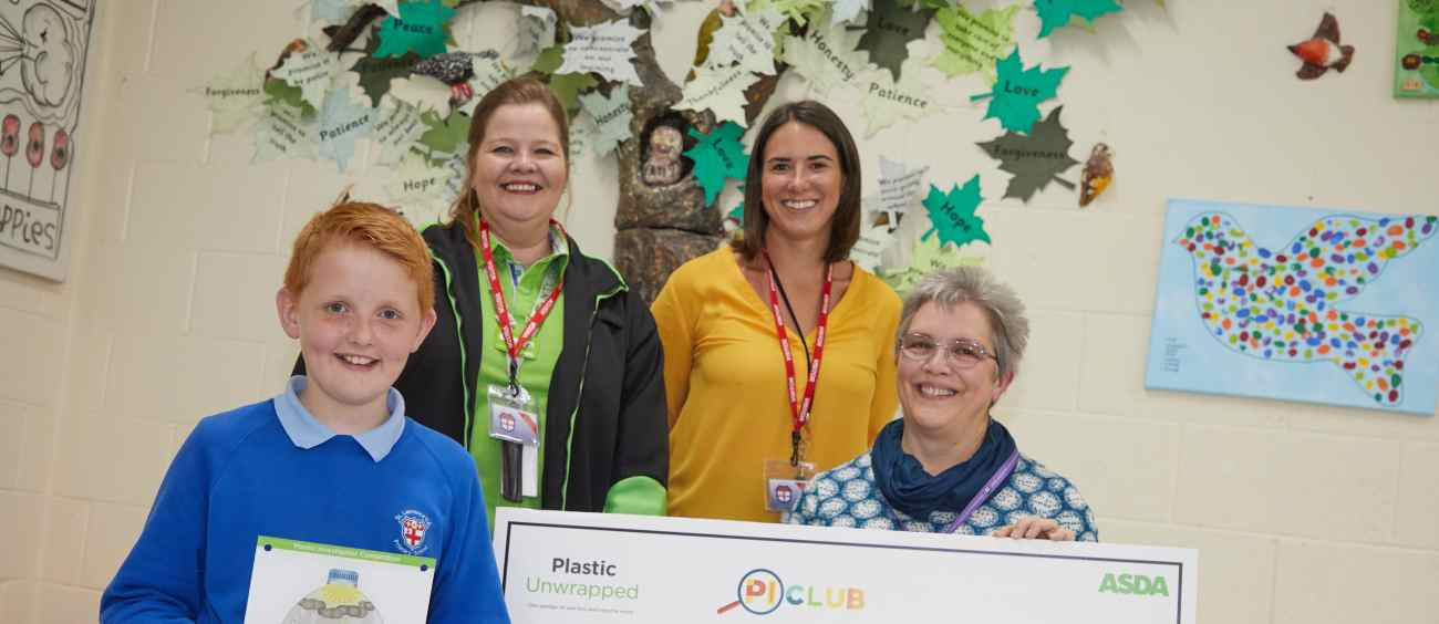 Joe from St Laurence Primary School in Lincoln has won £10,000 from Asda for his school to spend on sustainability projects