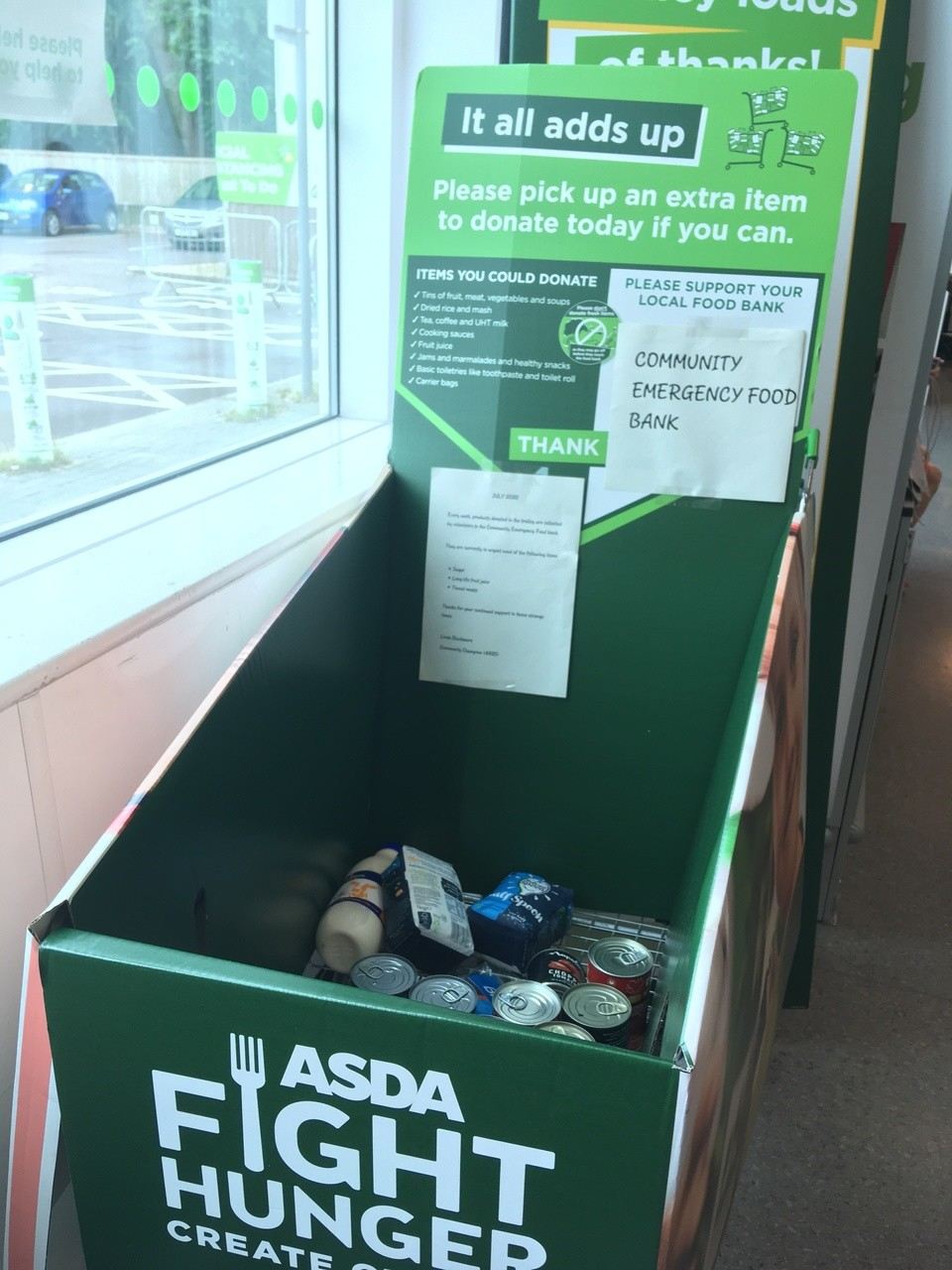 Food bank drive  | Asda Wheatley