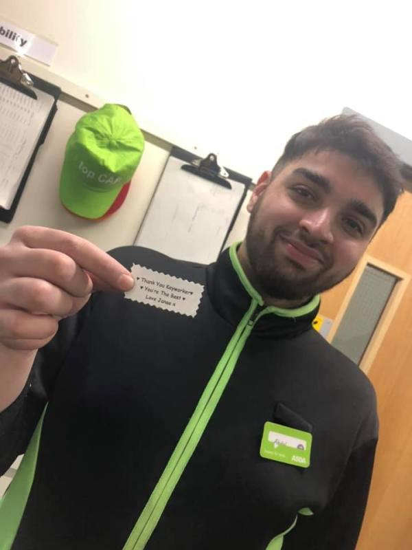 Janae Nolan sent thank you cards to key workers at Asda Chadderton