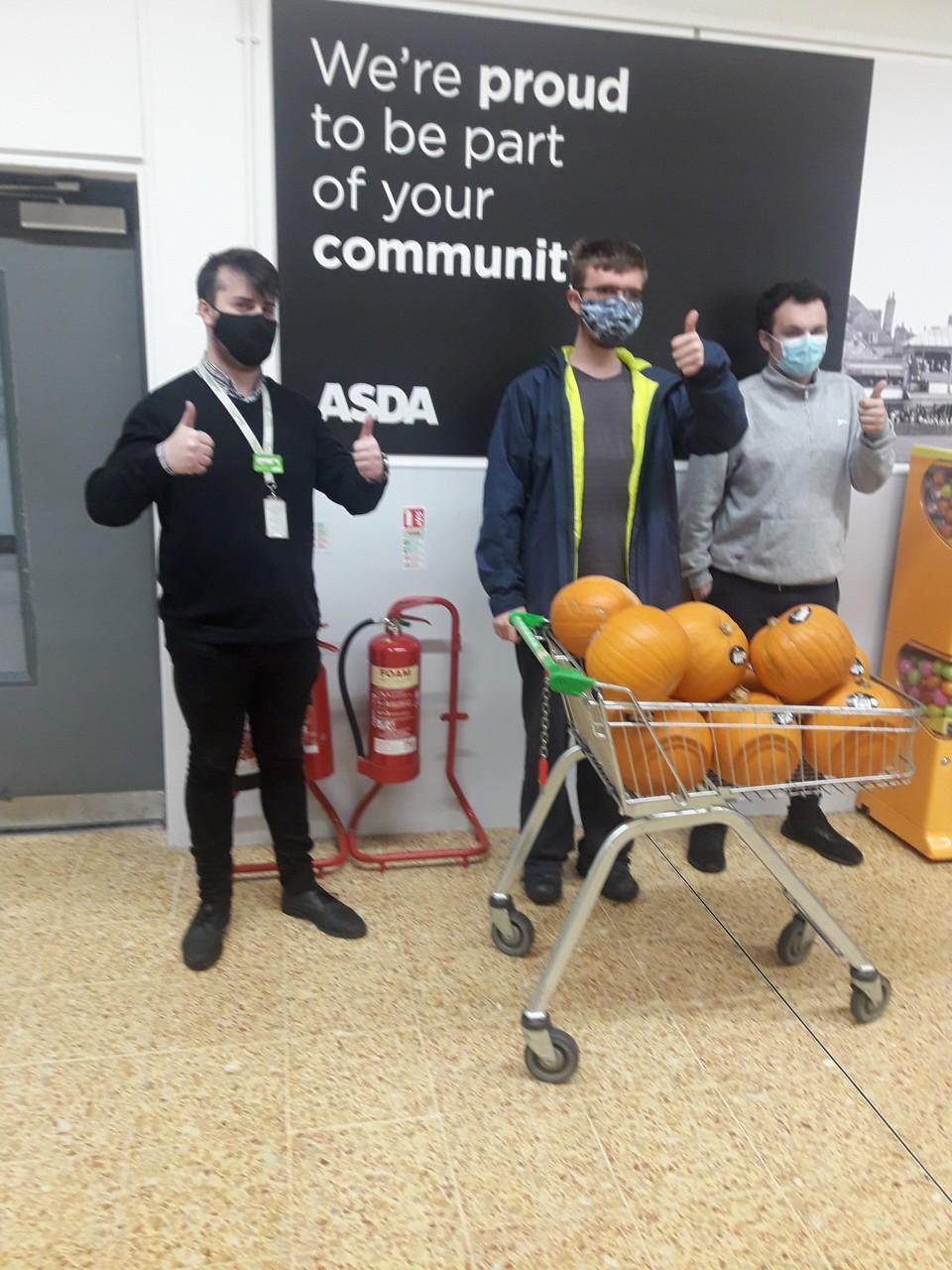 Pumpkin donation to Selworthy special needs school | Asda Taunton