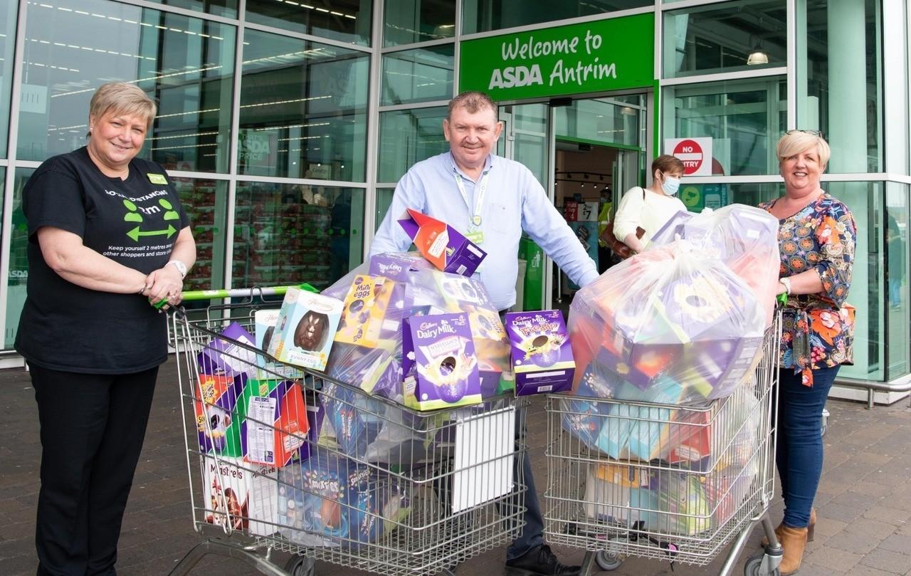 Easter donations.   Asda Antrim