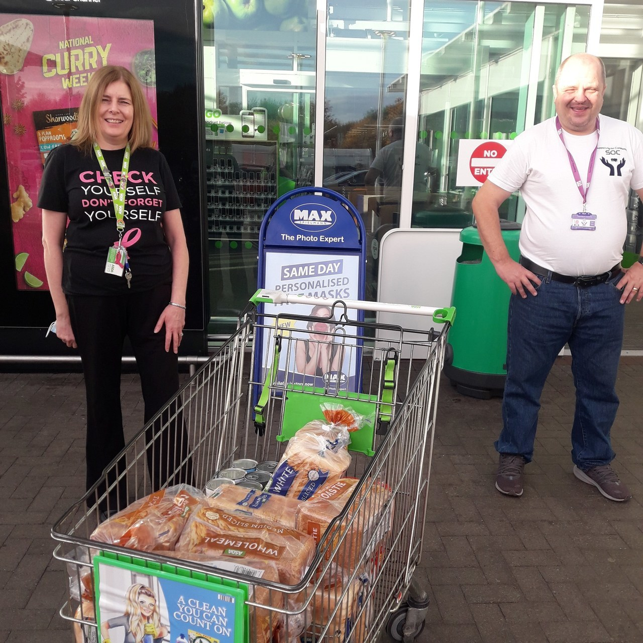 Supporting our Community donation | Asda Hamilton