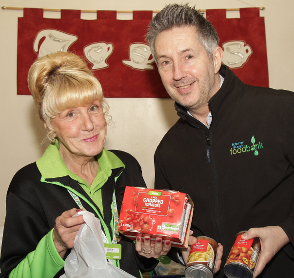 Gwen Appleton from Asda Leigh has helped Atherton and Leigh Foodbank secure a £28,000 grant from Asda Fight Hunger Create Change