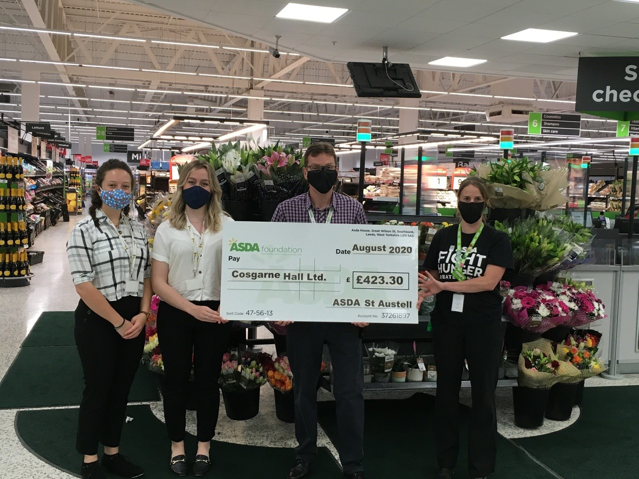 Covid grant to care home   Asda St Austell