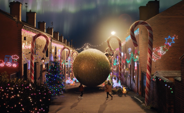 Asda's Christmas TV advert was filmed in the village of Tyldsley