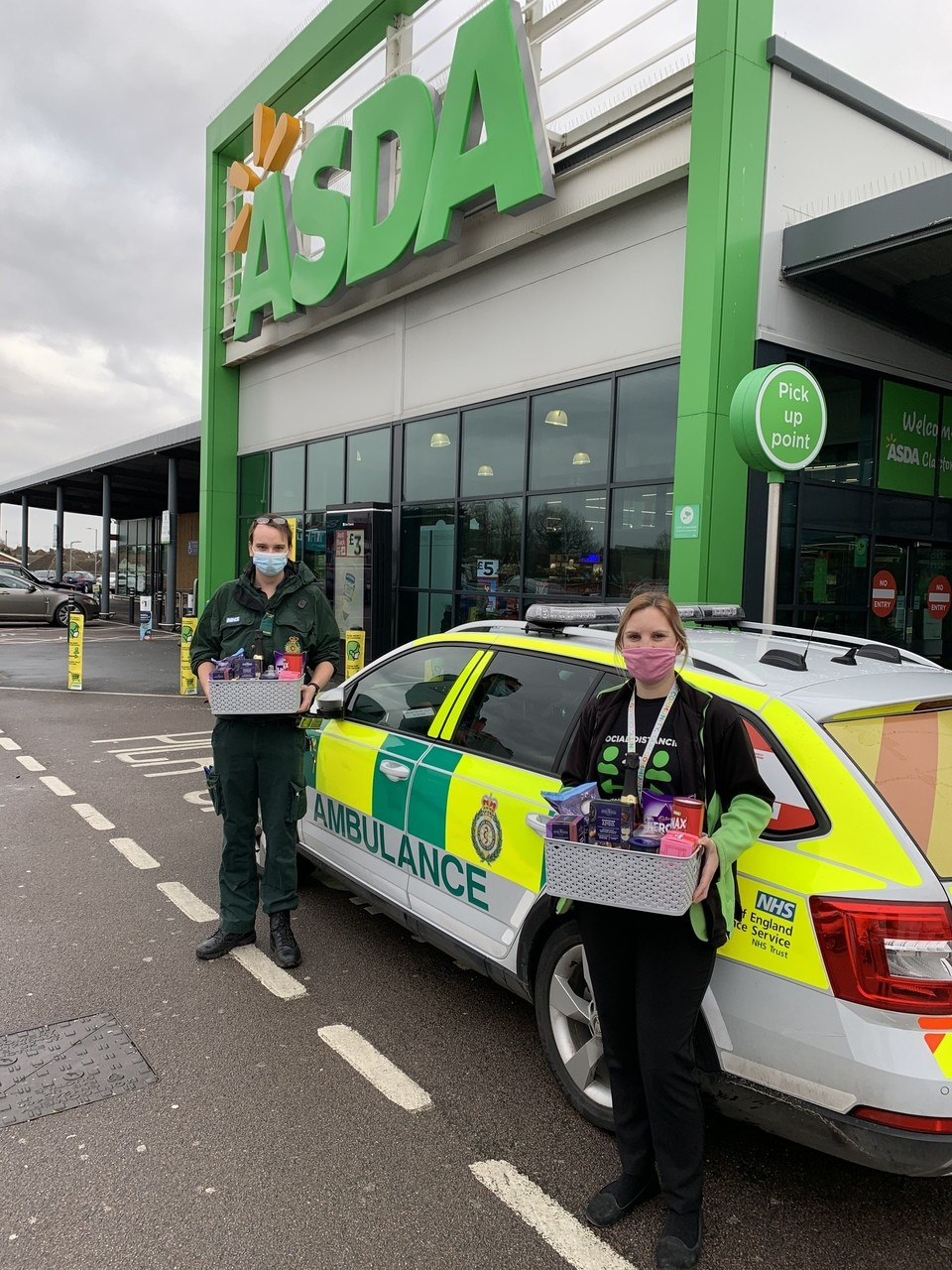 Saying thanks to the East of England Ambulance Service | Asda Clacton-on-Sea