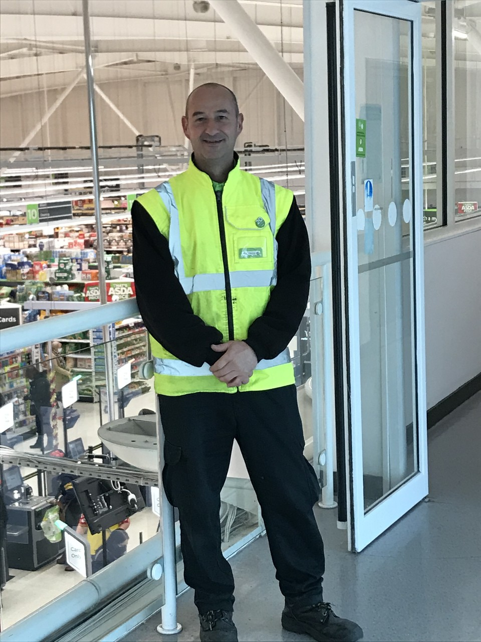 20 years' service for Nektarios | Asda Cardiff Bay