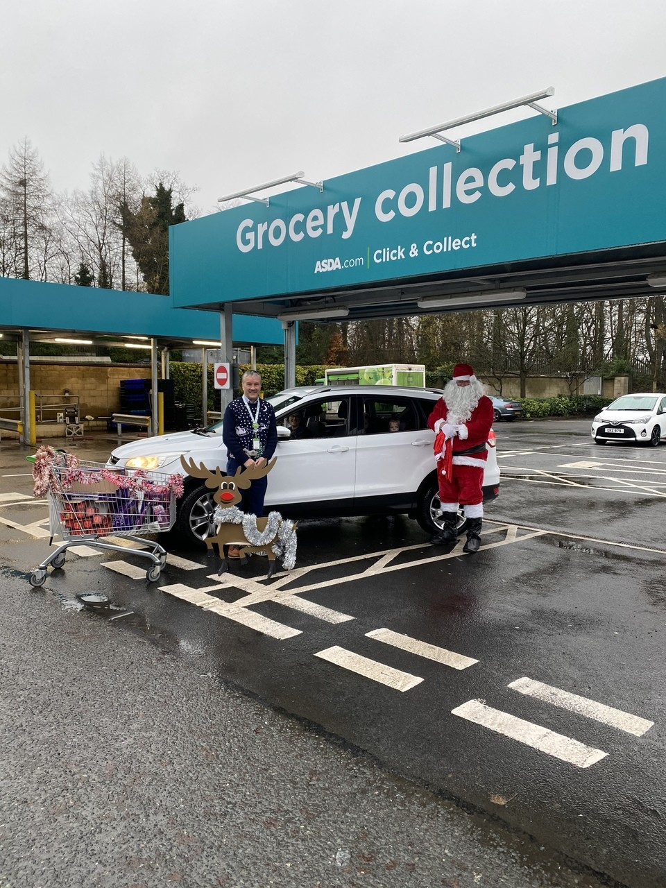Colleague Santa drive thru | Asda Cookstown