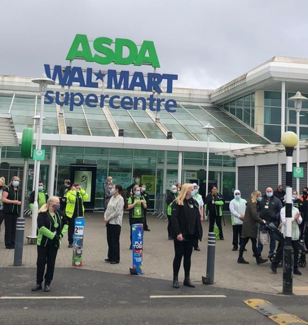 Asda Great Bridge held a minute's applause for Tipton Twin Doris Hobday