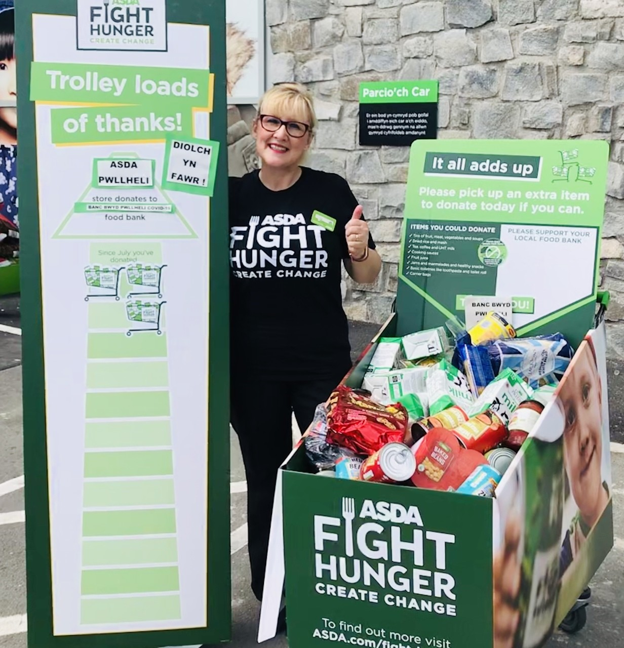 Supporting Fight Hunger Create change | Asda Pwllheli