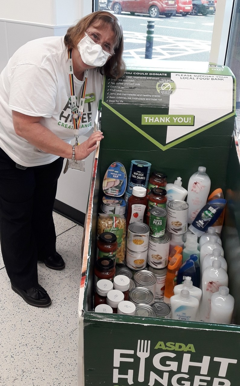 Donation for Warrington Foodbank | Asda Westbrook