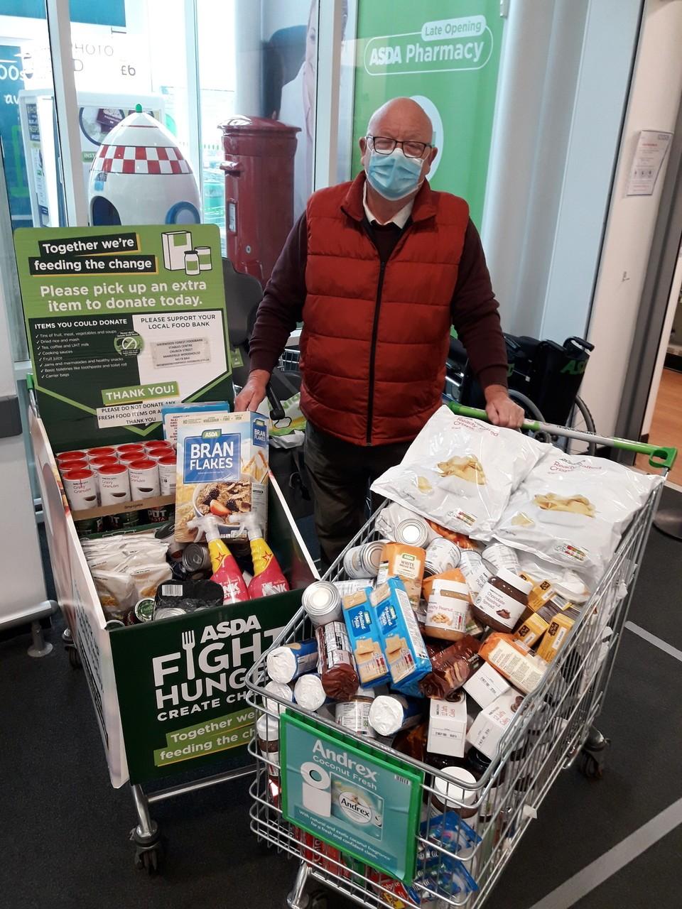 Foodbank collection | Asda Mansfield