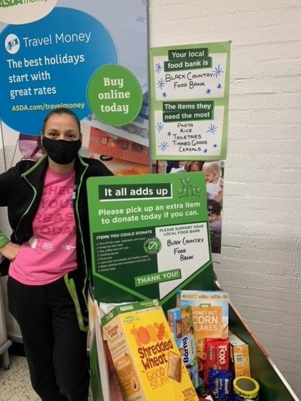 Kirsty McCormack from Asda Brierley Hill supports Fight Hunger