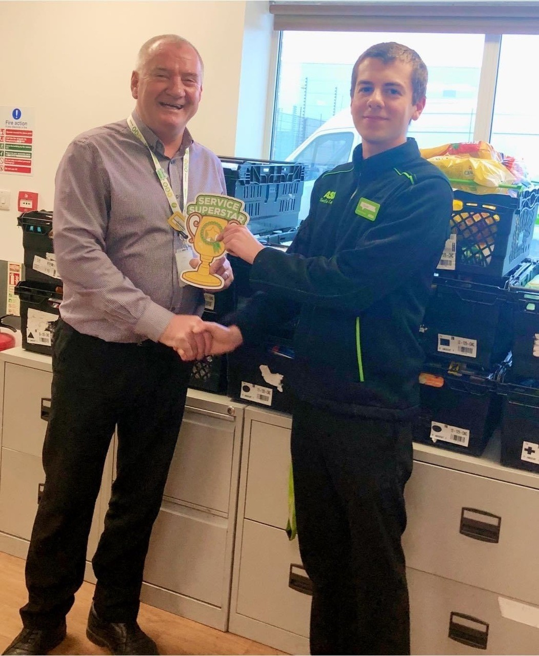 Superstar Sean goes out of his way to help customers at Asda Downpatrick | Asda Downpatrick