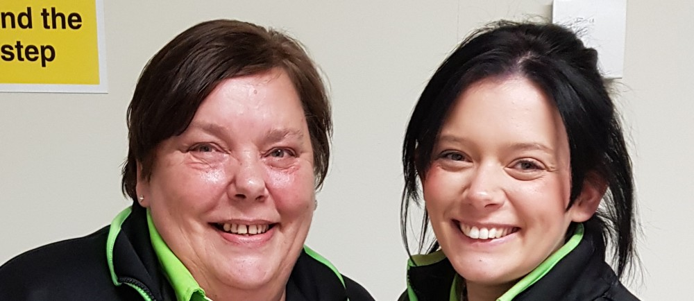 Asda Hebburn Station Road colleagues Donna and Amy