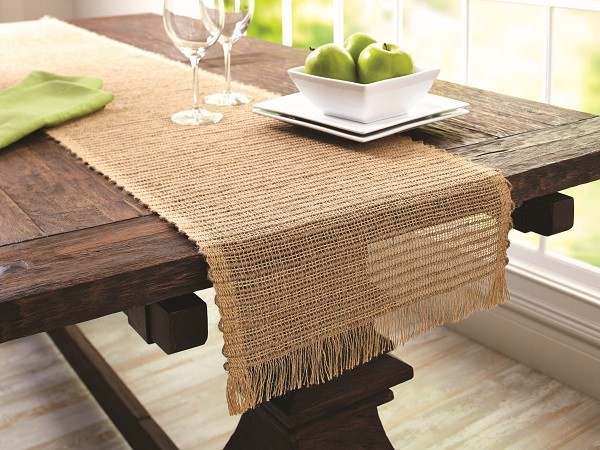 Rustic Table with Table Runner