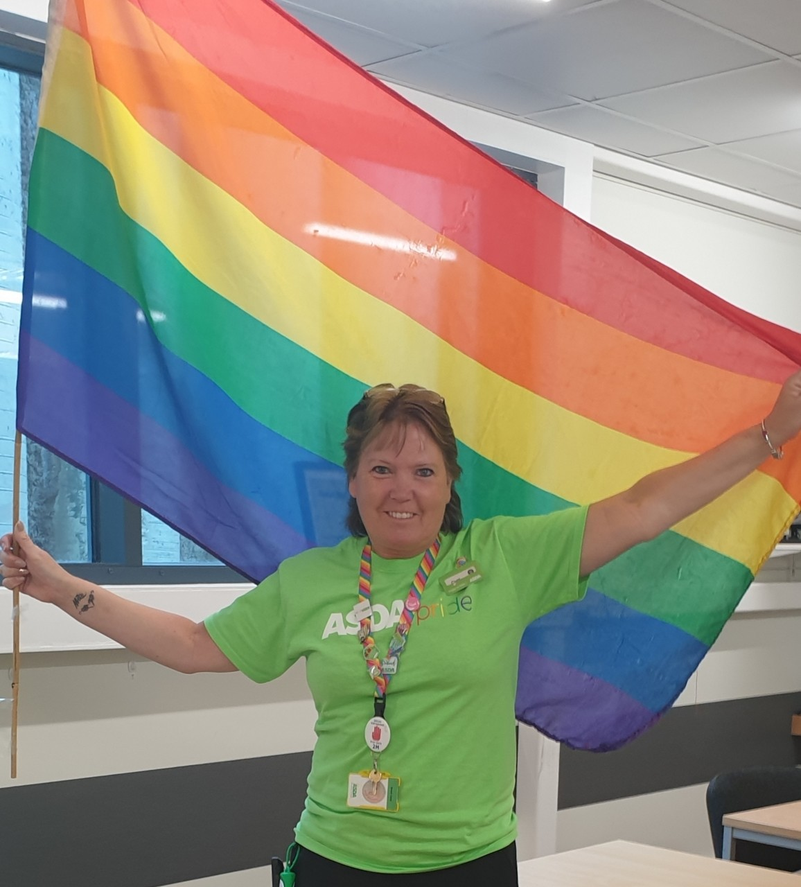 Flying the flag for Rainbow week  | Asda Newport Isle of Wight