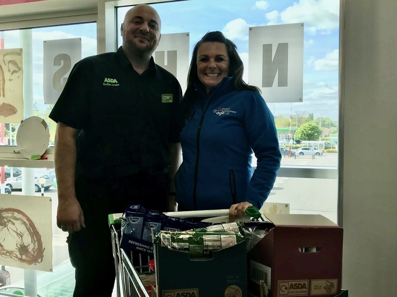 Donation to Age UK | Asda Lincoln North Hykeham