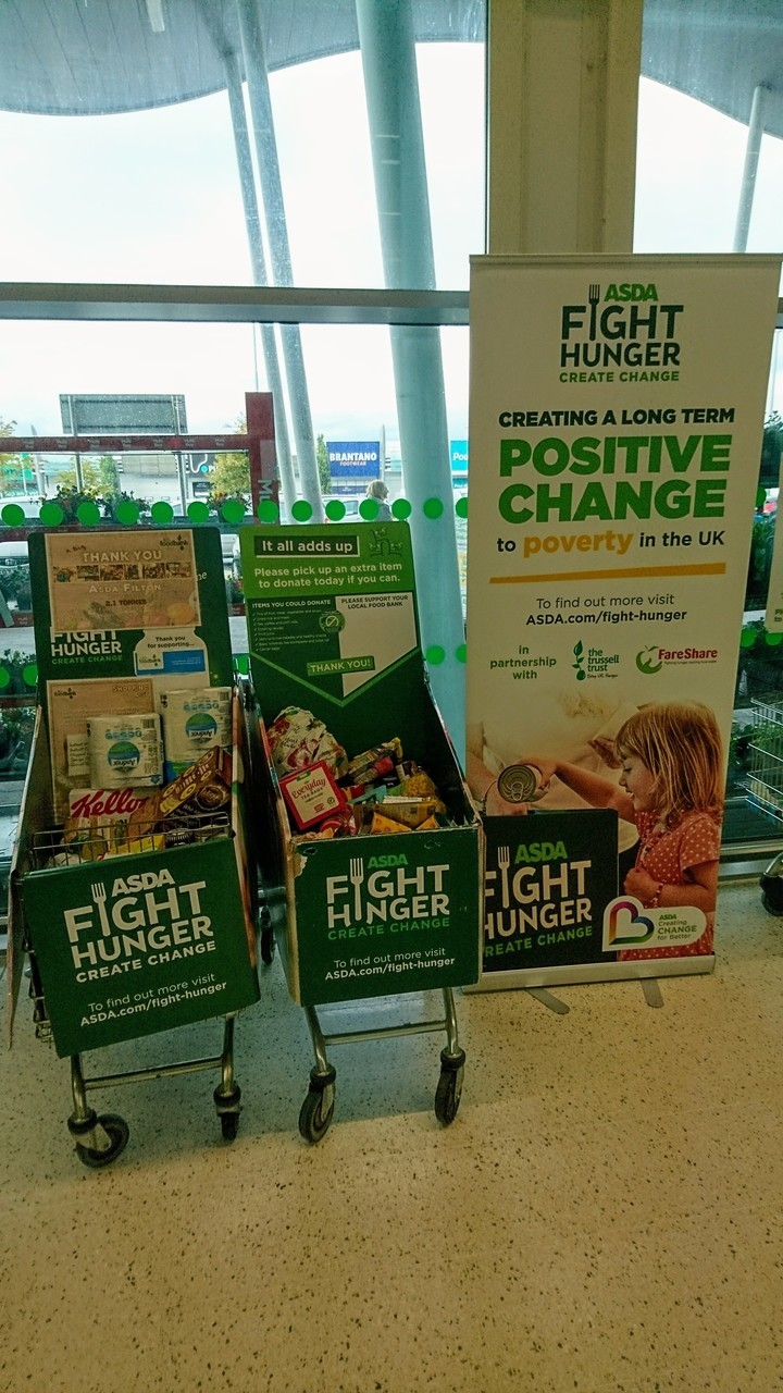 Foodbank donations at Filton  | Asda Filton