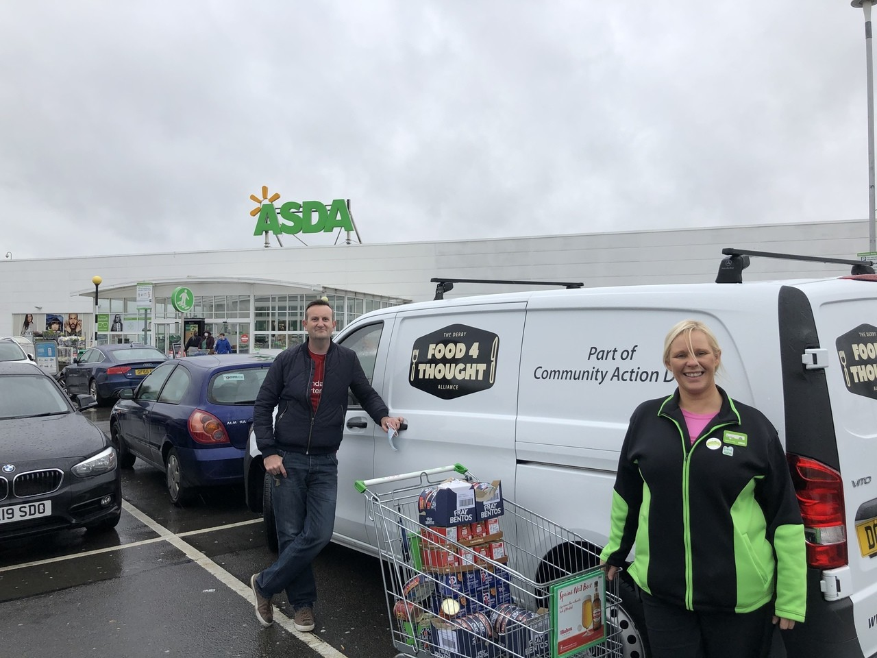 Donation to support one of the main food banks in the city  | Asda Derby