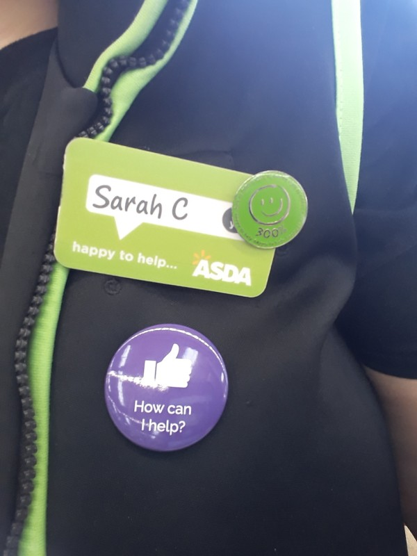 Supporting Purple Tuesday at Asda Mount Pleasant